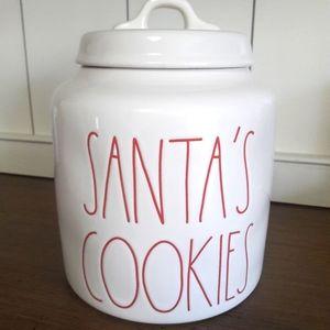 Rae Dunn SANTA'S COOKIES white canister. 2019